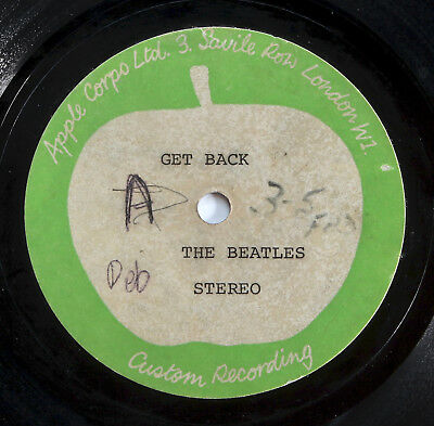 "The Beatles - Get Back - UK 1969 7"" Apple Stereo **ACETATE** 100% Genuine Disc"