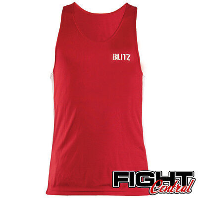 Blitz Adult Boxing Vest - Red - FREE P&P - Amateur, White Collar, Professional