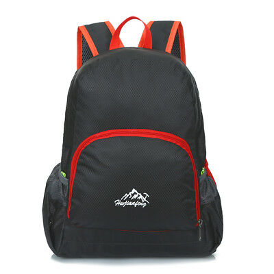 Foldable Lightweight Travel Backpack Daypack Sports Camping Hiking 20L Black