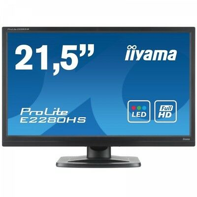 "E2280HS-B1 - Monitor ProLite 21,5"" Full HD - DVI - HDMI - Speaker - Attacco Vesa"