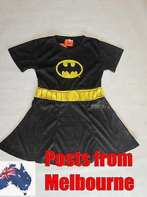 **NEW BATGIRL COSPLAY Kids Costumes Girls Sizes 2-10 **POST FROM MELBOURNE**