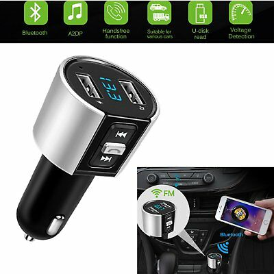 ONEVER Wireless Bluetooth Car Kit Dual USB Car Charger MP3 Player FM Transmitter
