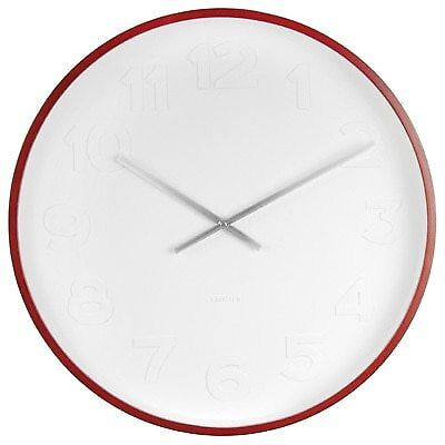 Wall Clock KARLSSON Mr White Wood Large
