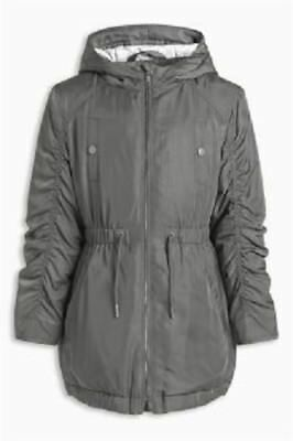 BNWT NEXT Girls Cape Parker Hooded Jacket Coat Pink or Charcoal 7-8-9 Y RRP £34