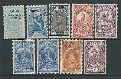 Small collection of Ethiopia stamps.