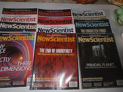 New Scientist magazines,11 copies, Sept-Nov 2013, in  good condition, 3 months