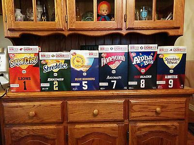 "CFL, Post Cereal ""Collectors Edition"" Cereal Boxes, Lot Of 6 Boxes, NEVER OPENED"