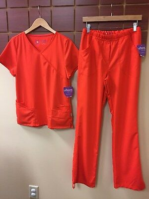 NEW Urbane Ultimate Blaze Solid Scrubs Set With Small Top & Small Tall Pants NWT