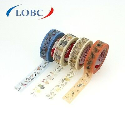 Washi Trim Tape 15MM x 10M Decorative Adhesive Paper Masking