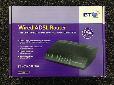 New BT Voyager 240 ADSL Router ( OPEN BOX )