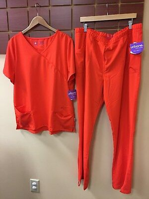 NEW Urbane Ultimate Blaze Solid Scrubs Set With XL Top & XL Tall Pants NWT