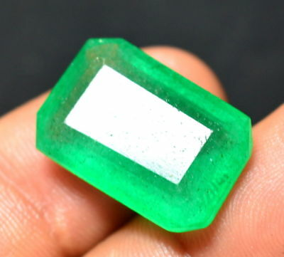 Awesome 14.75 Ct. Colombian Green Emerald Cut Natural Gems For_Ring Size (NW_03)
