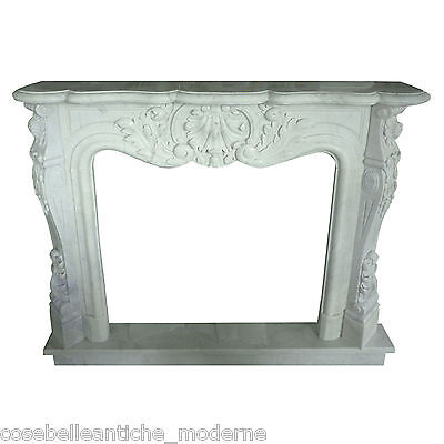 Fireplace Classic fireplace white Marble Carrara Classic Marble fireplace 150CM