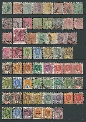 3 scans-Collection of good used Ceylon stamps.
