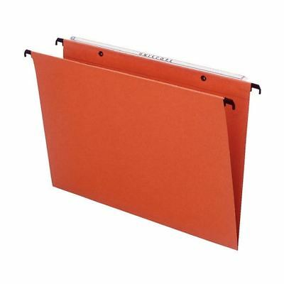 Esselte Orange Suspension Foolscap File V (Pack of 50) 10402 [ES10402]