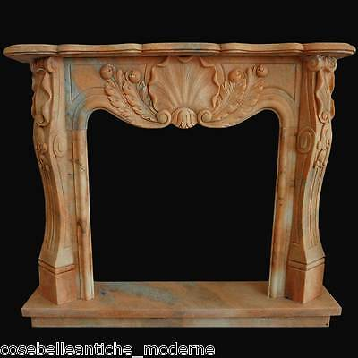 FIREPLACE Marble Rosa Portugal Antiques Style louis XV Marble FIREPLACE L130cm