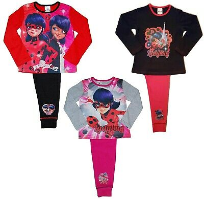 Girls Miraculous Ladybug Pyjamas Pink Red  4 to 10 Years