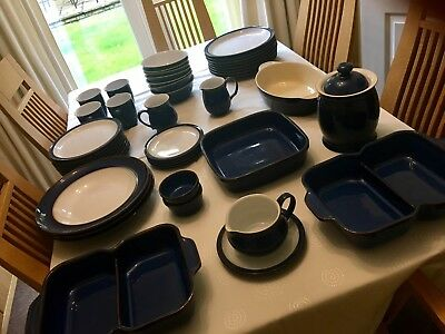 Denby Imperial Blue - various Items- to be sold in one lot
