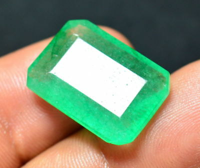 12.05 Ct. Natural Emerald Cut Green Colombian Fabulous Gemstone For Ring (NW_03)