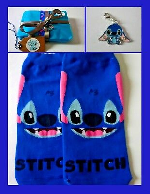 Disney Stitch Socks & Charm Gift-wrapped