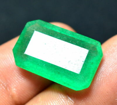 12.70 Ct. Fabulous Natural Colombian Green Emerald Cut Gemstone For_Ring (NW_03)