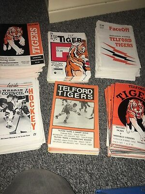 60 x Ice hockey Powerplay magazines + 150 ice hockey programmes