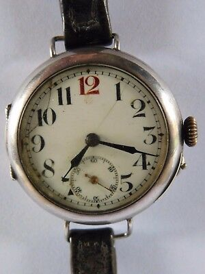 World War 1 Solid Silver Trench Watch Sergt Barnes Signallers W.r.h.a.b. 1915