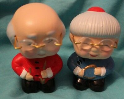 Rare Vintage Nodders Bobble Heads Bobbleheads Ceramic Old Man Woman Spectacles