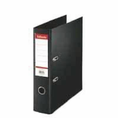 Esselte Lever Arch File Polypropylene Foolscap 75mm Black (Pack of 10) [ES80878]