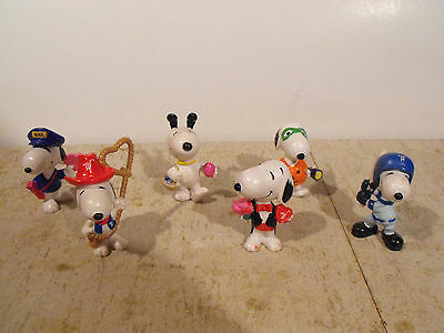 Vintage Set of Six Snoopy Characters from Whitman Chocolates