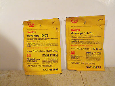 Kodak D76 Developer. Two Brand New Packages