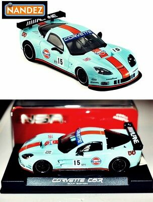 NSR Corvette C6R Gulf Edition  #15 AW KING 21 0044AW slot car Free P&P NEW NSR