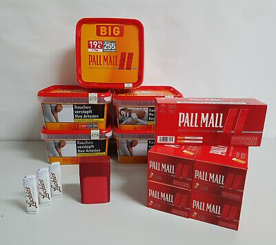 5 x Pall Mall Allround Big Box 130g Tabak,5xHülsen,5xFeuerzeg,1x Box 15,35€/100g