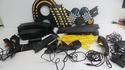Job Lot of Micro Scalextric Track, Controllers etc (No Cars)