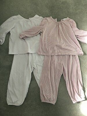 Little White Company Toddler Girls Pair of Pink Pyjamas Age 18 - 24 Months