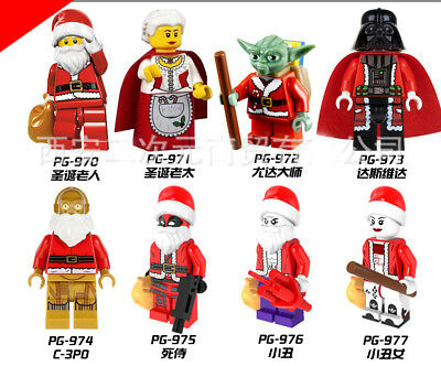 Christmas Santa Claus Minifigures Blocks Building Toy Compatible With Main Brand