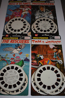 viewmaster slides james bond battle of the planets tom and jerry the rescuers