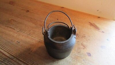 Vintage Cast Iron Glue Pot Boiler with Liner ~ small version with number on base