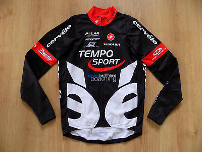 Castelli Cervelo Cycling Bicycling Jersey Shirt Jacket Top Longsleeve Zip Size L