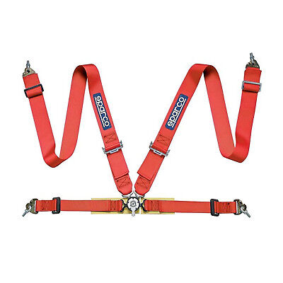Genuine Sparco 4 - point  3 inch Safety Belts with 2? Lap Straps, red