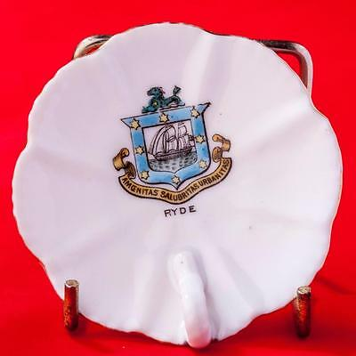 Gemma Czechoslavakia Crested China Shell Pin Tray with Ryde Crest