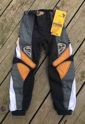 Youth Thor Mx Motorcross Pants Phases 6 Size 20 Color BK/GM NEW With Tags