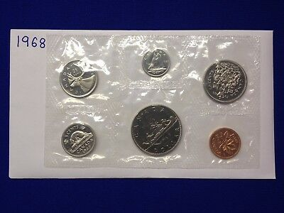 1968 Canadian Proof-Like Set With 6 Sealed Coins