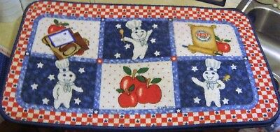 1998 Pillsbury Doughboy All American Rug/Mat - Red White & Blue w Apples w Tags