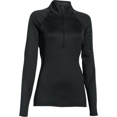 Under Armour 1271619 Women's Black ColdGear Infrared 1/4 Zip Shirt - Size Large