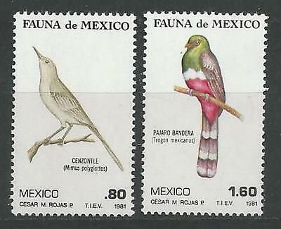 MEXICO 1980 S.G. 1591 - 1592  Set-2  M.N.H. BIRDS