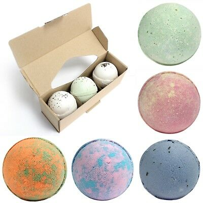Set Of 3 Jumbo Bath Bombs With Shea Butter - Large 180g UK Handmade Scented Pack
