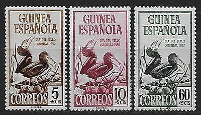 SPANISH GUINEA  1952 S.G. 371 - 373  Set-3  M.N.H. BIRDS