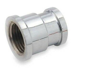 "NEW BRIGHT Chrome Plated Brass Pipe Fitting Coupling REDUCER  3/8""-1/2"" AP"