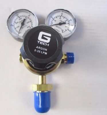 Starparts GTech Single Stage Two / Twin Gauge Argon Regulator - 0-35 LPM